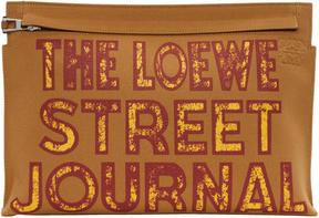 Loewe Tan Street Journal T Pouch