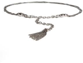 St. John Women's Hamm Swarovski Crystal Chain Tassel Belt