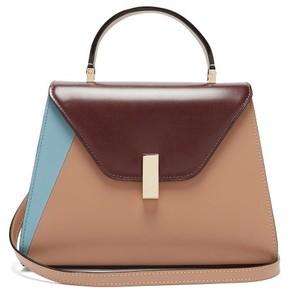 Valextra Iside Medium Leather Bag - Womens - Nude Multi