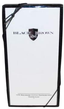 Black & Brown Black Brown White Handkerchiefs - 13-Pack