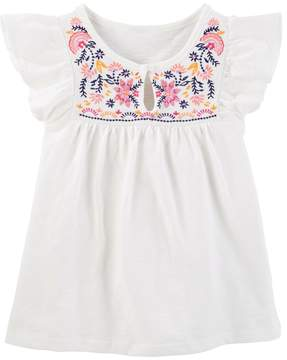 Osh Kosh Toddler Girl Floral Embroidered Top