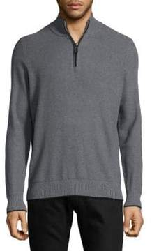 Tailorbyrd Heathered Half-Zip Sweater