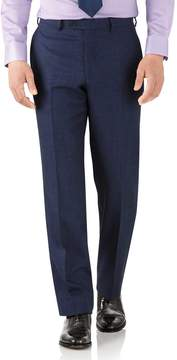 Charles Tyrwhitt Royal Blue Classic Fit Flannel Business Suit Wool Pants Size W42 L38