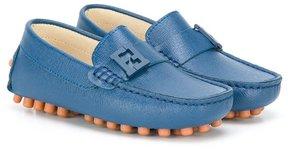 Fendi Kids FF logo plaque loafers