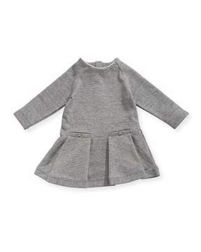 Chloé Soft Chic Long-Sleeve Dress, Size 12-18 Months