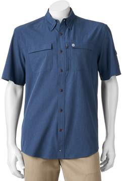 Coleman Men's Classic-Fit Chambray Stretch Performance Button-Down Fishing Shirt