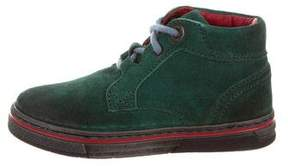 Dolce & Gabbana Boys' Suede Lace-Up Booties