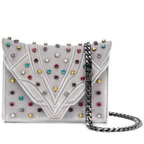 Elena Ghisellini jewel studded clutch bag