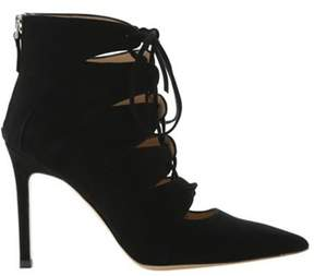 Roberto Festa Women's Moana Suede Caged Lace-up Bootie Black Suede Size 40 M.