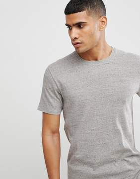 Selected T-Shirt In Linen Mix With Fleck