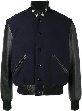 Saint Laurent teddy etoile bomber jacket