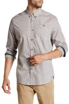 Kenneth Cole New York Long Sleeve Besom Pocket Button Modern Fit Shirt