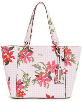 GUESS Kamryn Gingham Floral Tote