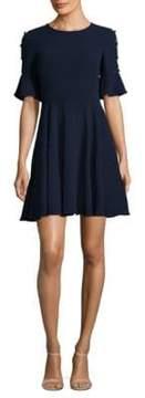Shoshanna Flutter Fit-&-Flare Dress