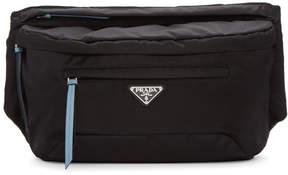 Prada Black and Blue Studded Strap Belt Bag