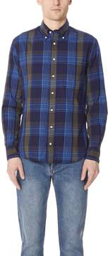 Gitman Brothers Long Sleeve Navy Madras Shirt