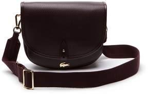 Lacoste Women's Chantaco Pique Leather Flap Crossover Bag