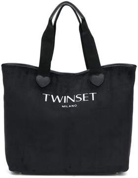 Twin-Set logo tote bag