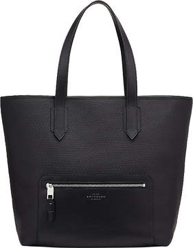 Smythson Greenwich East West canvas and leather tote