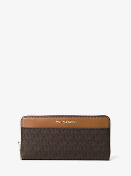Michael Kors Mercer Logo Continental Wallet - BROWN - STYLE