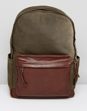 Fossil Defender Backpack in Waxed Canvas