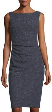 Eliza J Ruched Shimmer Sheath Dress