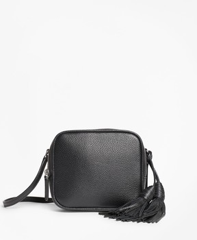 Brooks Brothers Tasseled Leather Cross-body Bag