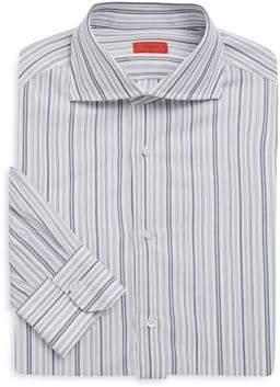 Isaia Regular-Fit Mixed-Stripe Dress Shirt