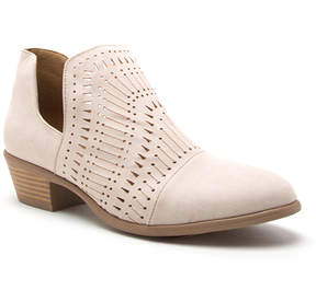 Qupid Beige Weekend Bootie - Women