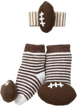 Mud Pie Football Wrist Rattle Sock Set Boys Shoes