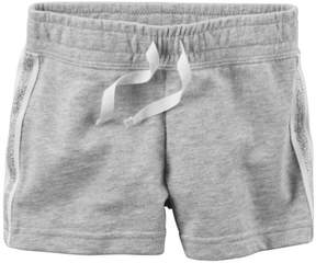 Carter's Baby Girl Grey French Terry Shorts