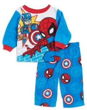 AME Sleepwear Baby Boy's Two-Piece Spiderman Fleece Pajama Set