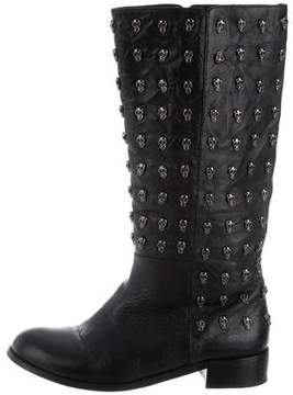 Thomas Wylde Studded Leather Boots