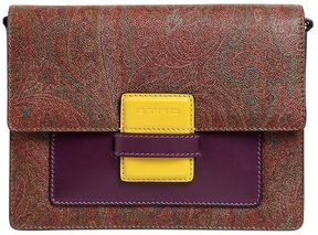 Rainbow Paisley Leather Shoulder Bag
