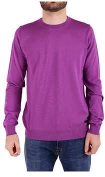 Trussardi Men's Purple Cotton Sweater.