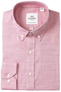 Ben Sherman Diamond Dobby Tailored Skinny Fit Dress Shirt
