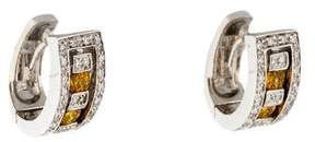 Damiani 18K Sapphire & Diamond Earrings