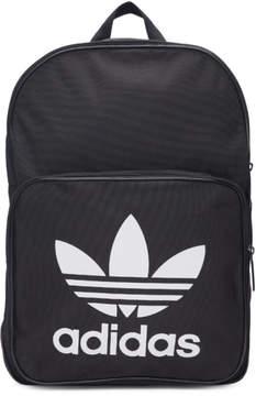adidas Black Classic Trefoil Logo Backpack