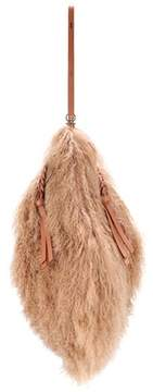 Nina Ricci Tupi Large shearling shoulder bag