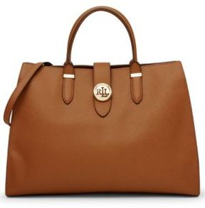Lauren Ralph Lauren Charleston Textured Leather Satchel