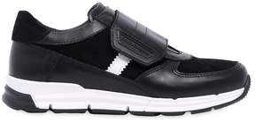 Nappa Leather & Suede Strap Sneakers
