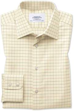 Charles Tyrwhitt Extra Slim Fit Country Check Multi Cotton Dress Shirt Single Cuff Size 15/34