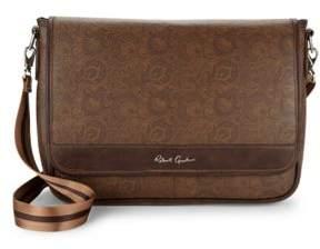Robert Graham Paisley-Print Faux Leather Messenger Bag