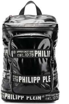 Philipp Plein logo trim backpack
