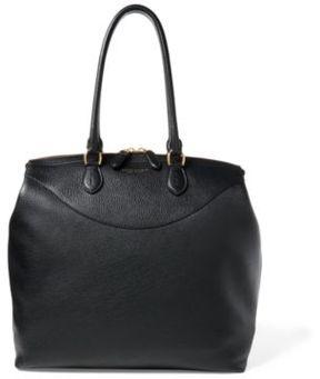 Ralph Lauren Calfskin Overnight Tote Black One Size