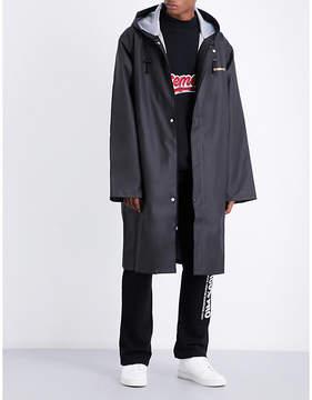 Vetements Logo-print hooded shell coat