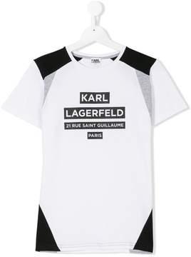 Karl Lagerfeld Teen logo print T-shirt