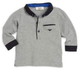 Armani Junior Infant Boy's Cotton Spread Collar Polo Shirt