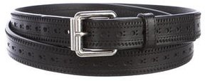 Marc Jacobs Brogue Leather Belt