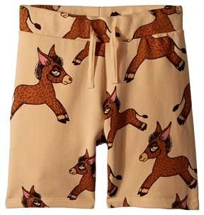 Mini Rodini Donkey All Over Print Sweatshorts Boy's Shorts